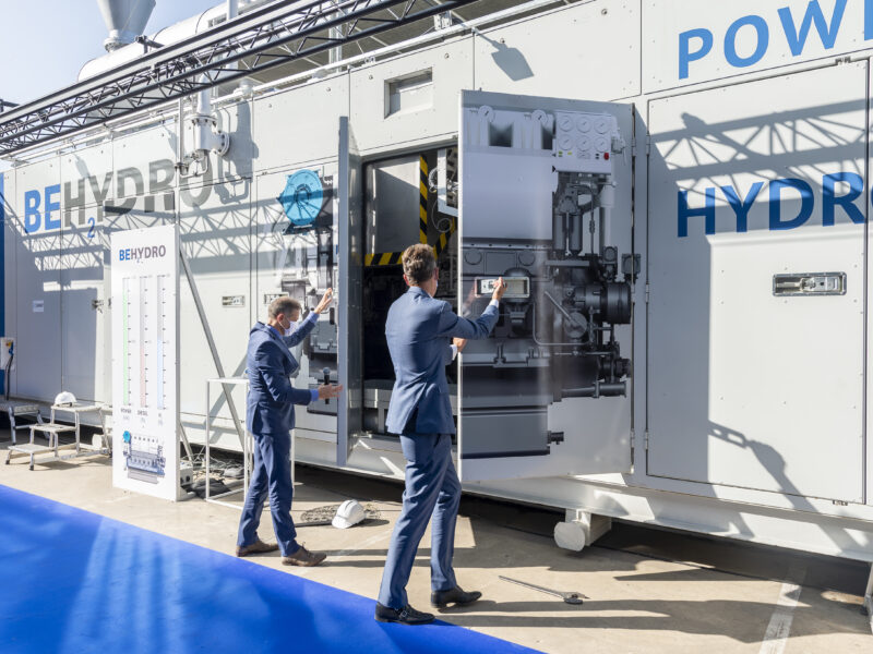 BeHydro hydrogen dual-fuel engine launched in Ghent!
